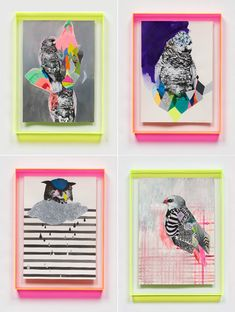 via Eat Drink Chic : Miranda Skoczek. i love her work and the perspex framing she often uses seems to complete her pieces. very nice!