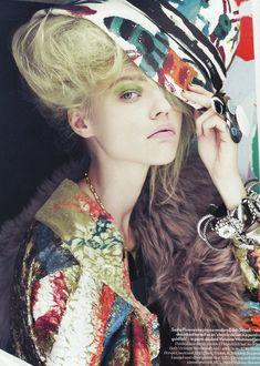 Sasha Pivovarova photographed by Paolo Roversi - Vogue UK: August 2008 - Collage Girl  (viastrongerthanlions)