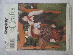 Simplicity 8209 Crafts Decorative Dolls with Clothes Sharon Simons Vintage 1992 Uncut - pinned by pin4etsy.com