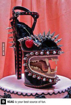 scott hove, shoes, sculptures, fashion, cakes, mixed media, monsters, killer heels, medium