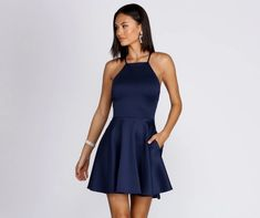 Slay in Windsor's stunning homecoming 2020 dress collection—satin to sequin, velvet to lace gowns. Dance away in short, high-low or long semi-formal dresses Plain Prom Dresses, Classy Homecoming Dress, Simple Short Dresses, Short Semi Formal Dresses, Semi Formal Outfits, Semi Dresses, Grad Dresses Short, Classy Dress, Formal Gowns