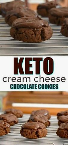 Rich and decadent keto cream cheese chocolate cookies the perfect low carb chocolate cookie. Rich and decadent keto cream cheese chocolate cookies the perfect low carb chocolate cookie. Keto Desserts, Keto Friendly Desserts, Keto Snacks, Dessert Recipes, Dessert Ideas, Dessert Bars, Recipes Dinner, Keto Cookies, Cookies Et Biscuits