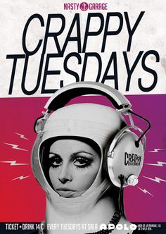 #CRAPPYTUESDAYS EVERY TUESDAY AT Sala Apolo  CRAPPY TUESDAYS GUESTLIST? CLICK HERE: http://nastymondays.com/crappy-tuesdays — en Crappy tuesdays, Sala Apolo. — en Sala Apolo.