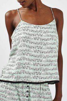 Elephant Print Pyjama Set - Nightwear - Clothing - Topshop