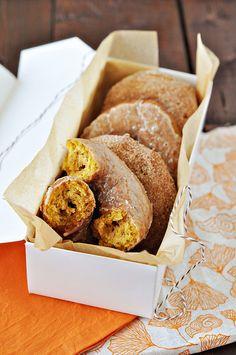 pumpkin doughnuts...