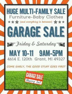 Editable and Printable Garage Sale Flyer - (1) PDF File - Instant ...