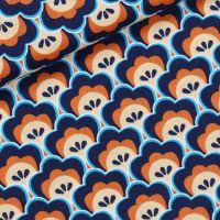 Soft Cactus Fabric- Seashore Shelly -Blueprint Apricot 01