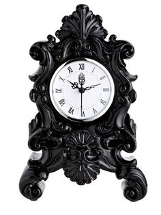 Laurence Llewelyn-Bowen Baroque n Roll Mantel Clock Gothic Room, Gothic House, Victorian Gothic, Dark Home Decor, Goth Home Decor, Antique Clocks, Or Antique, Gothic Interior, Interior Design