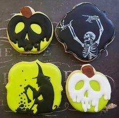 Halloween Cookies by Local Tart Bakery Halloween Donuts, Halloween Desserts, Recetas Halloween, Halloween Cookies Decorated, Halloween Sugar Cookies, Halloween Treats, Halloween Fun, Decorated Cookies, Halloween Biscuits
