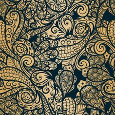 Image of 'vector seamless paisley background' on Colourbox