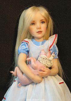 *ALICE in WONDERLAND DOLL ~ by: Jane Bradbury Collectible Dolls