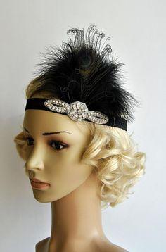 Gris Plume Millinery Burlesque Serre-tête Mariage Chapeau Cheveux Pièce