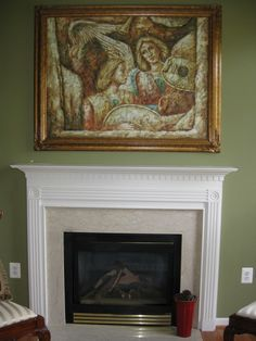 Before- How to add visual interest and height to your fireplace