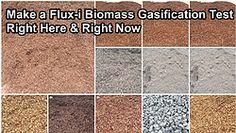 Flux-i Biomasse Generator testen Sie Ihren Biomasse Brennstoff