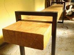 table salle à manger rolf métal et bois type industriel | consoles - Meuble Bois Massif Design