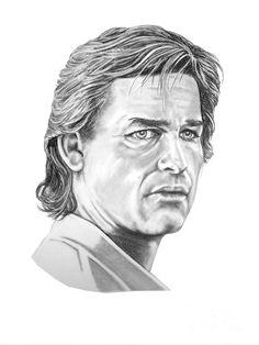 Kurt Russell Drawing  - Kurt Russell Fine Art Print