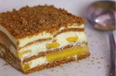 How to Make a Mango Float. A mango float is a delicious traditional Filipino dessert. Mango floats are quick, easy, and cheap to make. No baking necessary! Dessert Recipes, Mango Float Filipino, Mango Float Recipe Filipino Desserts, Graham Flour, My Favorite Food, Favorite Recipes, Refreshing Desserts, Decadent Cakes, Cookies