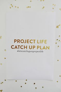 Freebie | The Project Life Catch Up Guide ♥ Caylee Grey