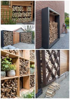 Backyard Garden Design, Backyard Projects, Outdoor Projects, Backyard Patio, Backyard Landscaping, Outdoor Firewood Rack, Firewood Storage, Outdoor Living, Outdoor Decor