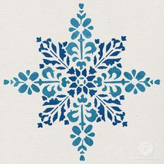 Decorate winter wonderland table runners and other snowflake-filled Christmas table decor using our Embroidered Star Moroccan Christmas Stencil ! Our mylar stencils are reusable! Check out our Embroid