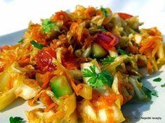 Nejedlé recepty: Salát z čínského zelí Slovak Recipes, Baked Potato, Shrimp, Cabbage, Cooking Recipes, Rice, Chicken, Vegetables, Ethnic Recipes