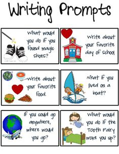 Each prompt is on its own card- perfect for a writing station or impromptu class journal writing prompts! Each prompt is on its own card- perfect for a writing station or impromptu class journal topics! Writing Topics, Writing Prompts For Kids, Journal Writing Prompts, Writing Lessons, Kids Writing, Journal Topics, Writing Ideas, 3rd Grade Writing, Kindergarten Writing