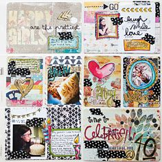 Scrap Happy Hippie: Project Life 2013 - Week 41 - My Big Birthday Celebration - right page/big 4-0 birthday all about me page