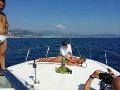 Sun, sea and massage on board of Tornado 38. #relaxingdayaroundAmalfiCoast# more information on www.amalficharter.it