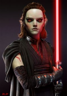 Rebeca Puebla imaged what Rey from Star Wars would look like if she went to the Dark Side. Rey Star Wars, Star Wars Rpg, Star Wars Fan Art, Female Sith, Sith Costume, Saga, Rise Art, 3d Studio, Tumblr