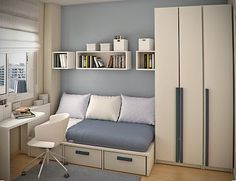 Simple and Minimalist Teen Bedroom Design by Sergi