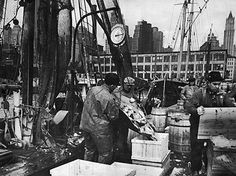 Fulton Fish Market, New York City, 1930s ``