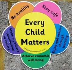 'Every Child Matters' is a new approach to help bring changes to the well-being of children in the UK. The Government wanted to make sure that every child had the support they needed to Stay healthy, Be safe, Achieve economically, Contribute to society a Kids Mental Health, Children Health, Safeguarding Children, British Values, Every Child Matters, Rights And Responsibilities, Child Day, Health And Wellbeing, Child Development