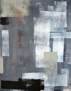Acrylic Abstract Art Painting Black Grey Green Brown by T30Gallery, $16.00