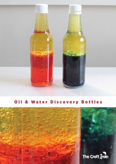 Oil and water discovery bottles