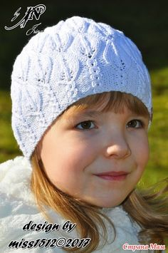 """""""Snowdrop"""" (подснежники) - ажурная шапочка спицами в подарок. Мой дизайн + схема + описание"""