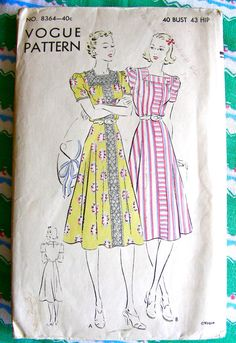 Vintage 1930's VOGUE Pattern 8364 BEAUTIFUL Summer by anne8865 (pattern story)