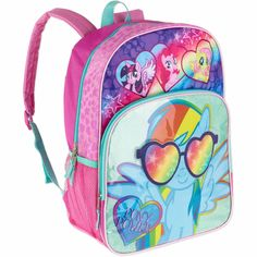 "My Little Pony Rainbow Sunnies Kids 16"" Backpack School Bag New #MyLittlePony"