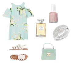 """...."" by isabelvsacre on Polyvore featuring MANGO, Melissa, Essie, Swarovski, Furla and Chanel"