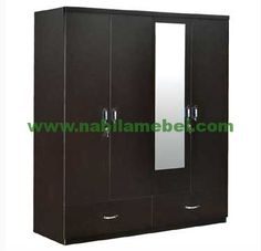Utsav Four Door Wardrobe with Extra Drawer in Wenge class=