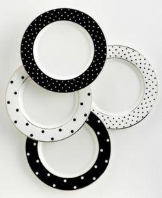 kate spade new york Dinnerware Set of 4 Larabee Road Polka Dot Tidbit Plates.jpg