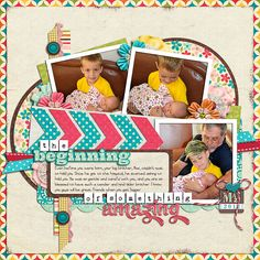 Layered Templates Set 126 by Cindy Schneider Date Pack by CIndy Schneider The Little Things by Bella Gypsy Layered Titles for Babies Set 2 by Cindy Schneider