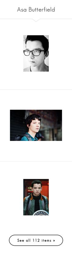 """Asa Butterfield"" by supernatural-fan-1999 ❤ liked on Polyvore featuring asa butterfield, home, home decor, people, wallpaper, celebrities, models, celebs, guys and asa"