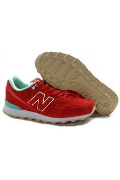 Discount New Balance 996 Shoes Womens Red Cyan