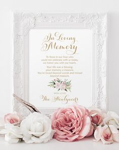 In Loving Memory Sign  8 x 10 sign  DIY by CharmingEndeavours