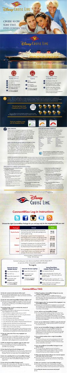 Disney Cruise Line Cellular Wifi Connect at Sea Info (from in-room handout June 2016)