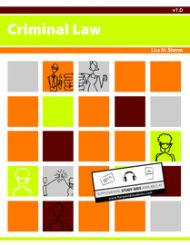 An interactive, multi-state, Criminal Law textbook.  Can be read in its entirety free online. The unique applied approach will improve comprehension in any Criminal Law course.
