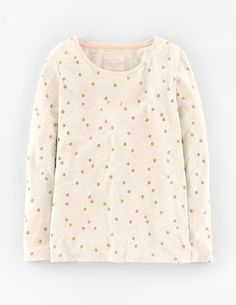 Today only, receive 20% off tops & tees, just for being you! Shop here > http://www.bodenusa.com/womens-tops-t-shirts Add a touch of sparkle to your staples. Wear this casual shape with jeans or tucked into a skirt. In soft cotton it's just right for layering with a cardigan or jumper when the weather turns.