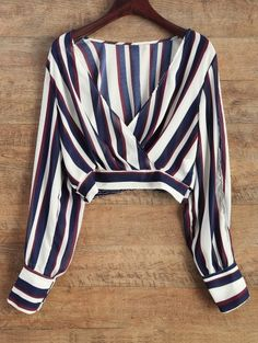 GET $50 NOW | Join Zaful: Get YOUR $50 NOW!http://m.zaful.com/striped-slit-sleeve-cropped-surplice-blouse-p_242625.html?seid=1022999zf242625