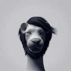 Afro Lion Portraits: || Drawfour Translation ---> The coolest cat in the jungle just got cooler.
