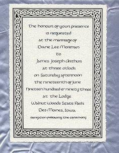 celtic wedding invitations | Celtic Wedding Cards